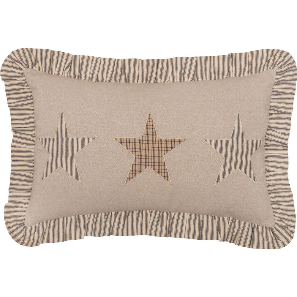 Sawyer Mill Star Charcoal Filled Pillow 14quot x 22quot by VHC