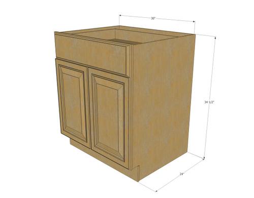 Regal Oak Medium Base Cabinet with Double Doors  Single