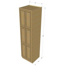Regal Oak Pantry Cabinet Unit 24 Inch Wide x 96 Inch High ...