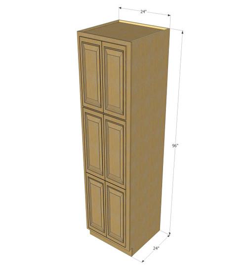 kitchen cabinet unit cabinets utah regal oak pantry 24 inch wide x 96 high image 1