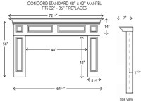 Wood Fireplace Mantels | Concord Standard