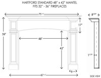 Wood Fireplace Mantels | Fireplace Mantel | Hartford ...