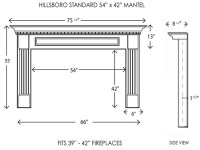 Wood Fireplace Mantels | Fireplace Mantels | Hillsboro ...