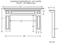 Wood Fireplace Mantels | Fireplace Surrounds | Savannah ...