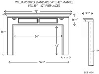 Standard Fireplace Opening Dimensions | Shapeyourminds.com