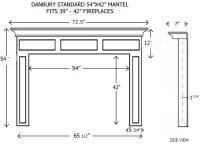 Wood Fireplace Mantels | Builder Mantels | Danbury ...