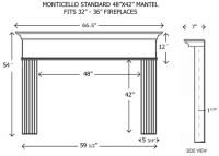 Wood Fireplace Mantels | Builder Mantels | Monticello ...