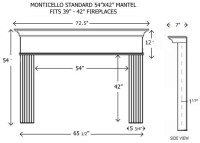 Wood Fireplace Mantels | Builder Mantels | Monticello ...