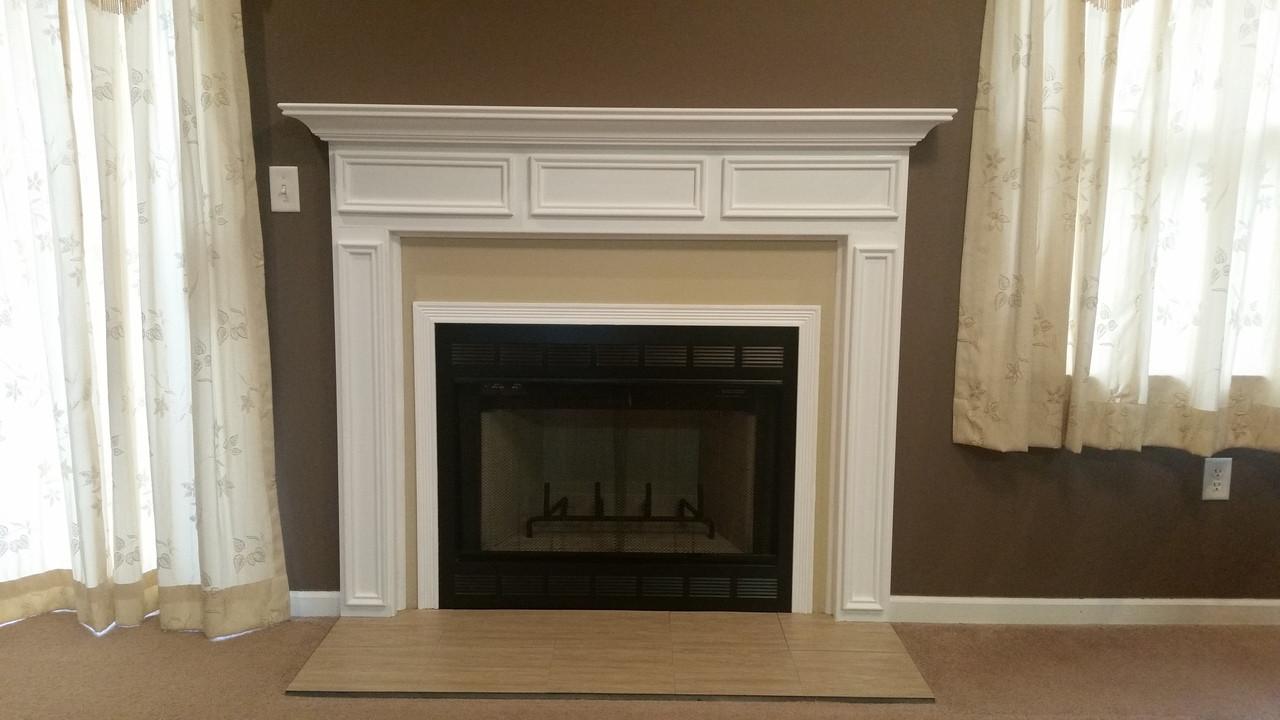 danbury wood fireplace mantel