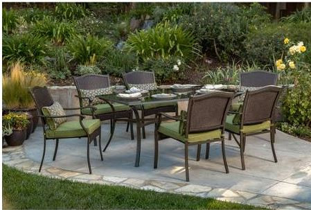 better homes and gardens providence 7 piece patio dining set green seats 6