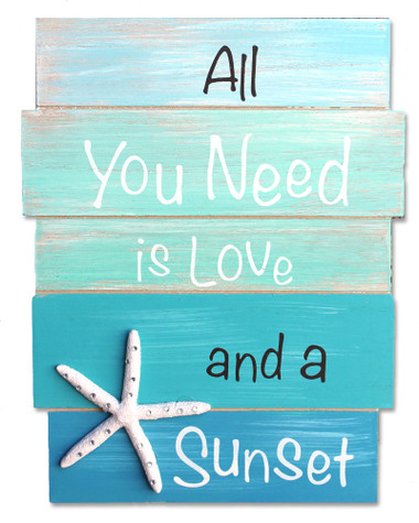 Download All You Need is Love and a Sunset Wood Plank Sign ...