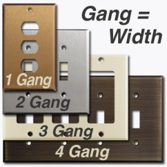 Combination Switch Wiring Diagram Doorbell Schematic Light Plate Outlet Cover Decora Rocker Size Chart Reference 1 4 Gang Comparison