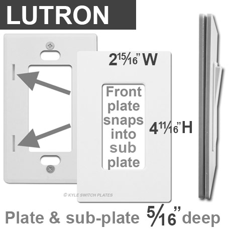 lutron claro dimensions saab wiring diagrams screwless wall plates kyle switch covers without screws