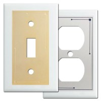 Classic Lines Metal Light Switchplates in White - Kyle Design