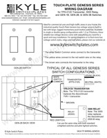 TouchPlate Genesis Low Voltage Wiring Diagram & Instructions