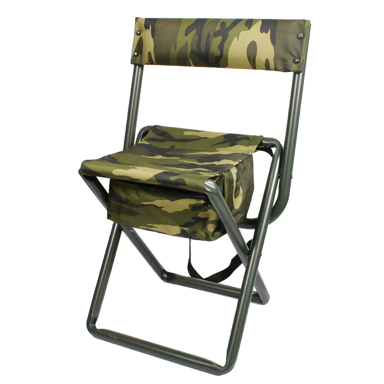 Collapsible Chair Deluxe Camo Folding Chair W Pouch