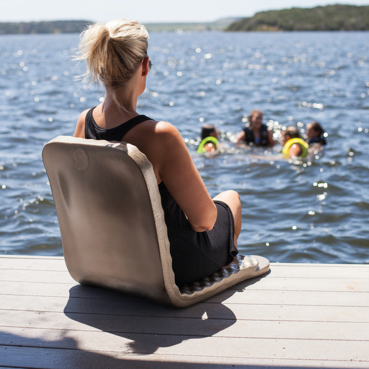 chair leg fishing floats wobble adhd folding poolside trc supersoft provides back support and protection for your legs from the side of concrete