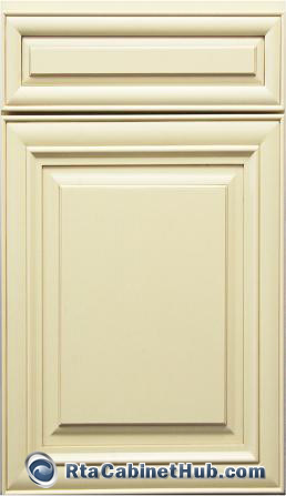 Cream Maple Glaze  French Vanilla  RTA Kitchen Cabinets