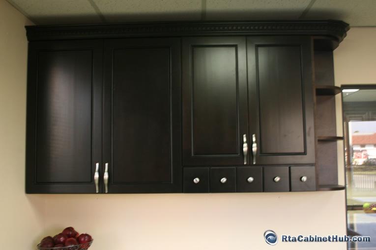 Espresso Maple  RTA Cabinet Hub  Espresso Bean
