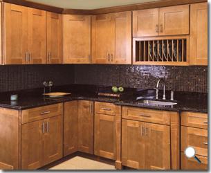 Shakertown  RTA Cabinet Hub  Shaker Honey  Cinnamon Shaker