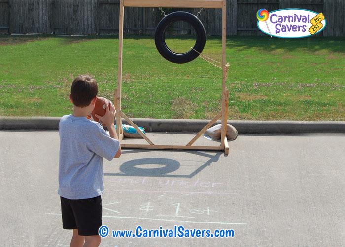 Carnival Game Idea Football Toss