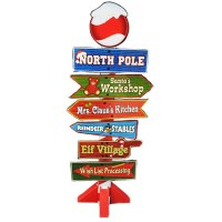 North Pole Directional Sign - Darling Christmas Decoration ...