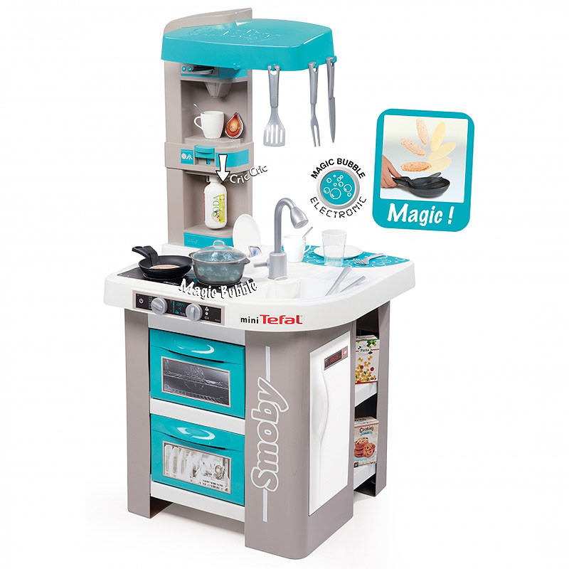 childrens play kitchen fan for exhaust smoby tefal bubble studio kids toy the mini is a great way your children to