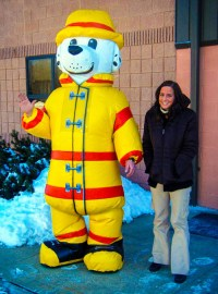 Inflatable Fire Dog Costume - Inflatable Images