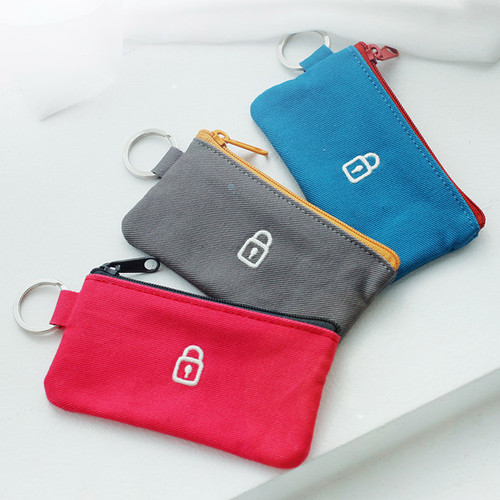 2NUL Security small zipper pouch with key ring  fallindesign
