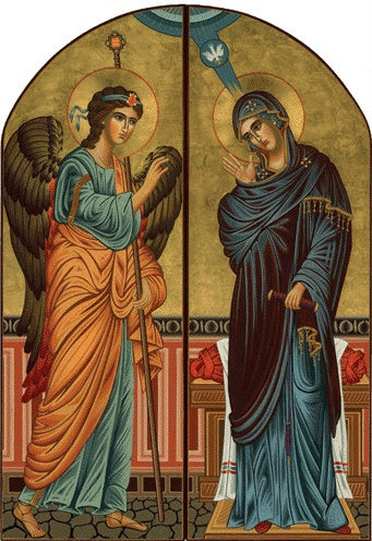 diptych annunciation large icons