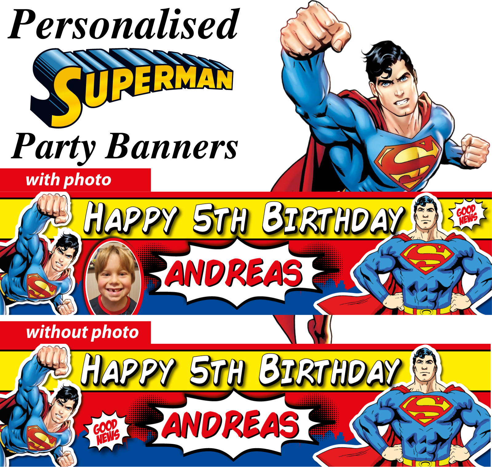 personalised superman birthday party