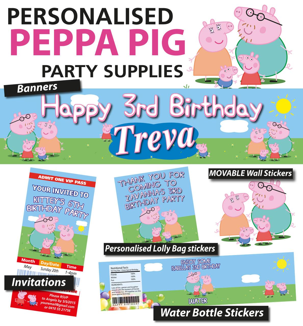 personalised peppa pig birthday