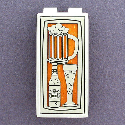 Custom Engraved Beer Money Clip for Men