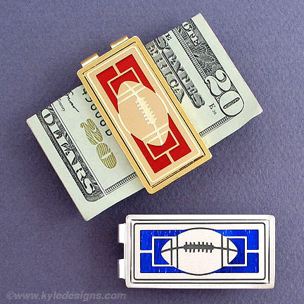 Money Clip Gift with Football