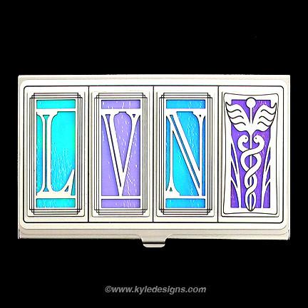 LVN Nurse Business Card Holder
