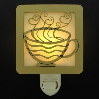 Coffee Night Lights - Decorative Metal & Stained Glass