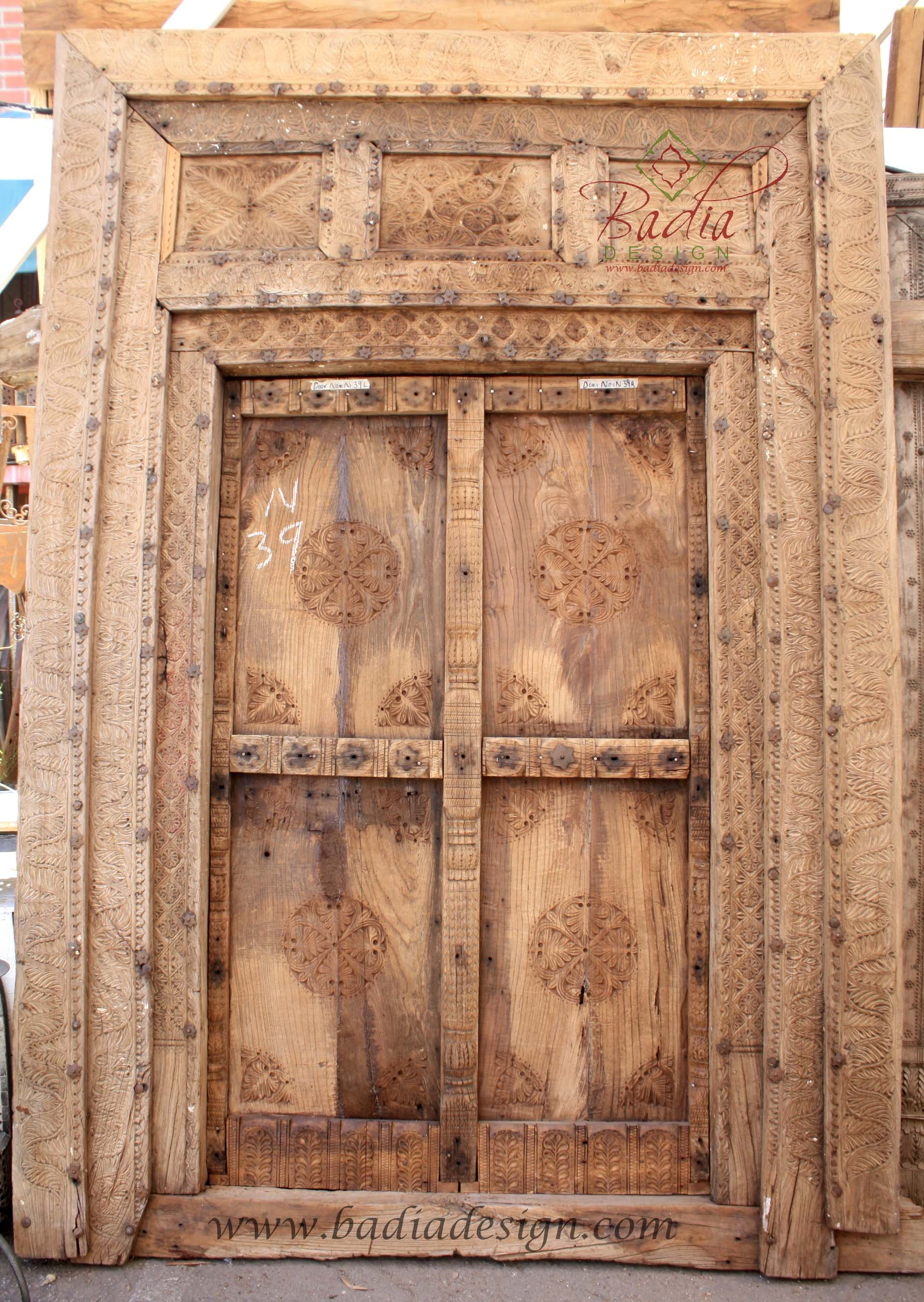 Large Vintage Wooden Door from Badia Design Inc.