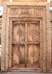 Large Vintage Wooden Door from Badia Design Inc.