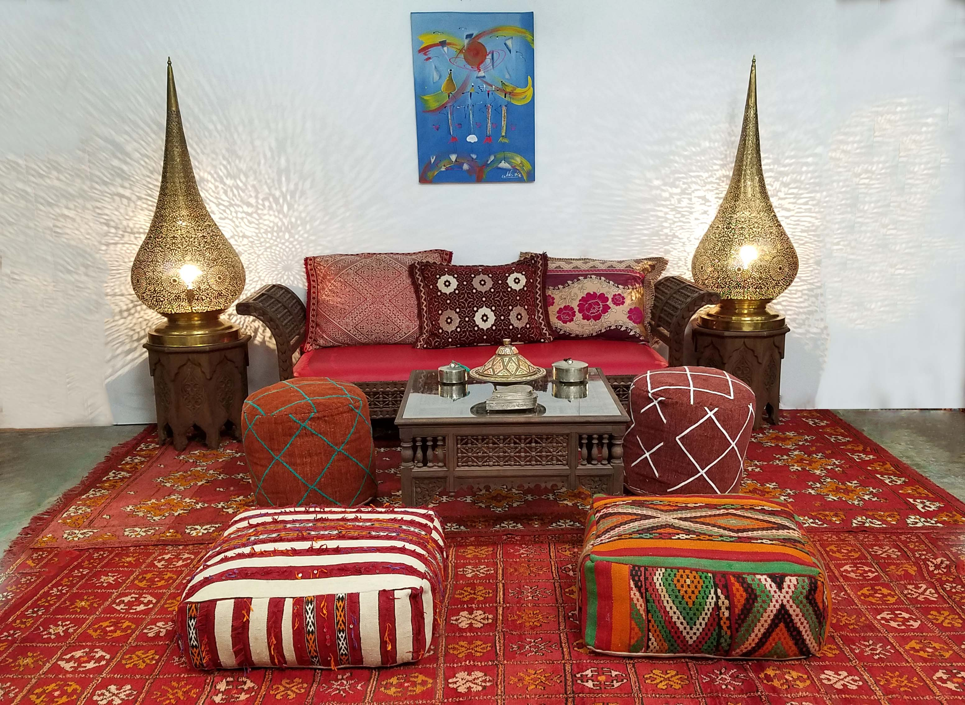moroccan living room design good green color for traditional decor badia inc store