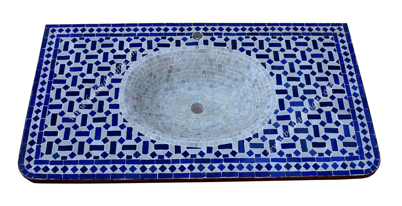 moroccan mosaic sink top