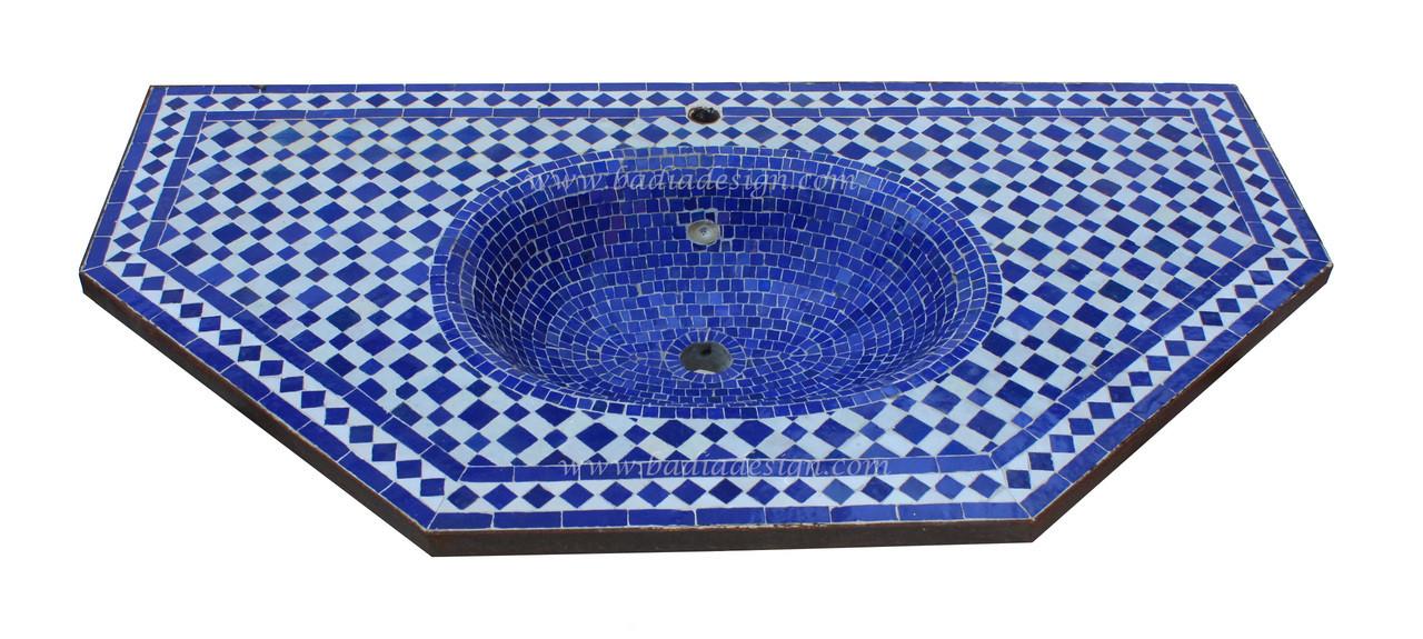 moroccan mosaic tile sink