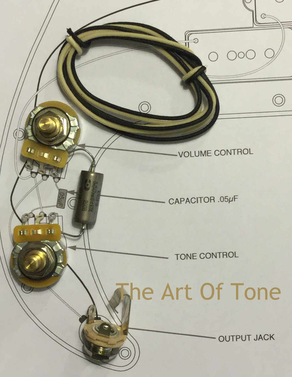 wiring upgrade kit for fender precision bass taot wiring kit fender precision bass k40y 9 047uf 200 cap st the art of tone [ 992 x 1280 Pixel ]