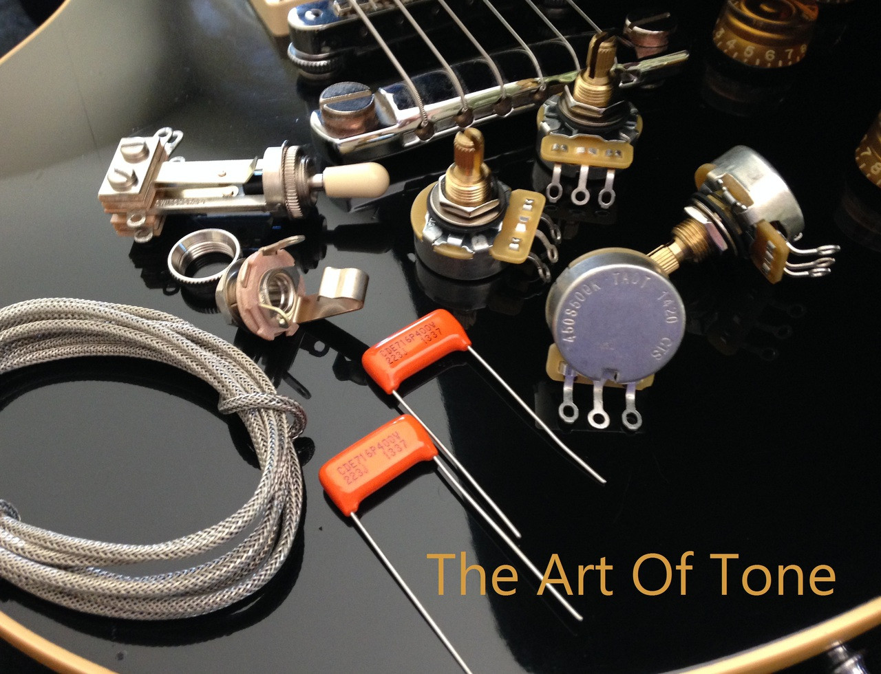 small resolution of taot gibson les paul wiring kit short shaft orange drop caps the art of