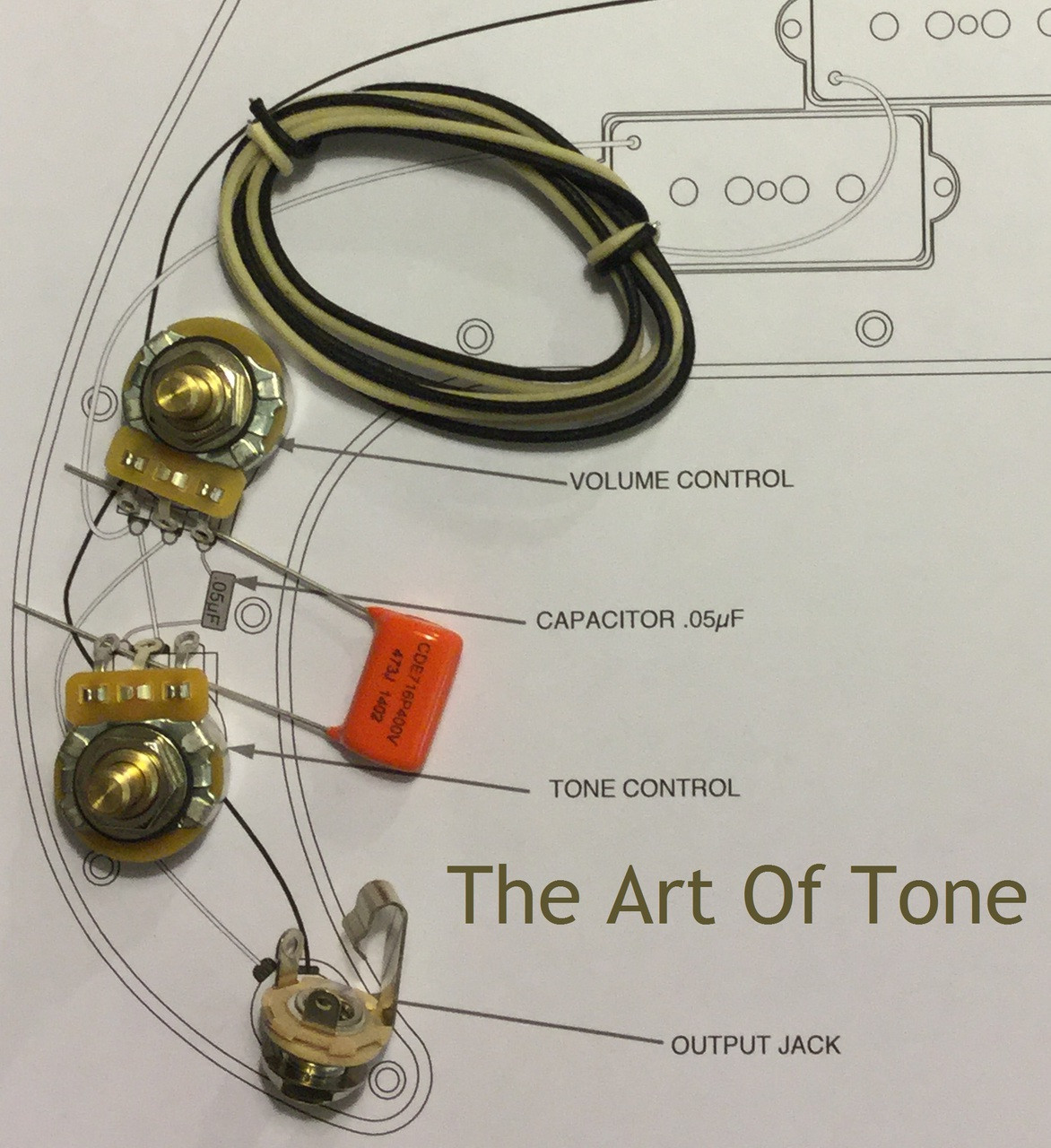 the art of tone wiring kit fender precision bass p bass  [ 1172 x 1280 Pixel ]