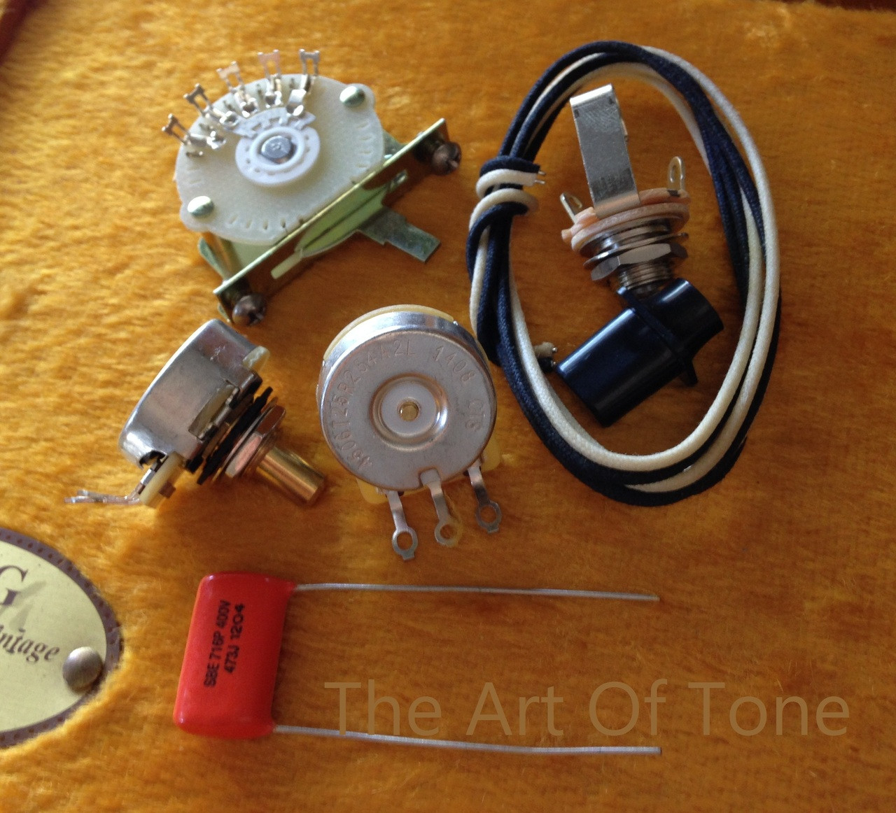 medium resolution of deluxe tele 4 way wiring kit telecaster cts 450g pots 047uf orange drop cap