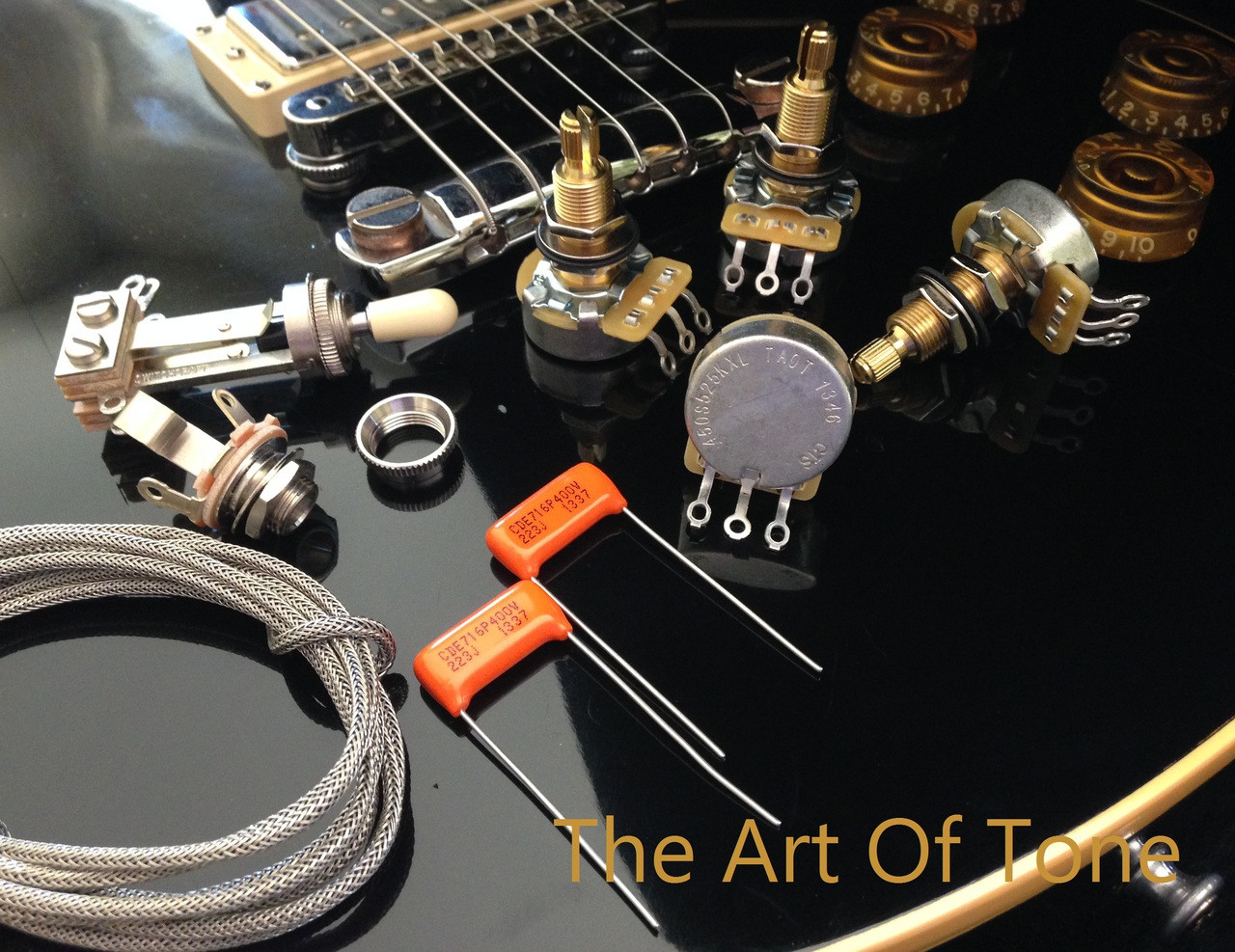 small resolution of taot wiring kit gibson les paul long shaft cts 450g 525k pots