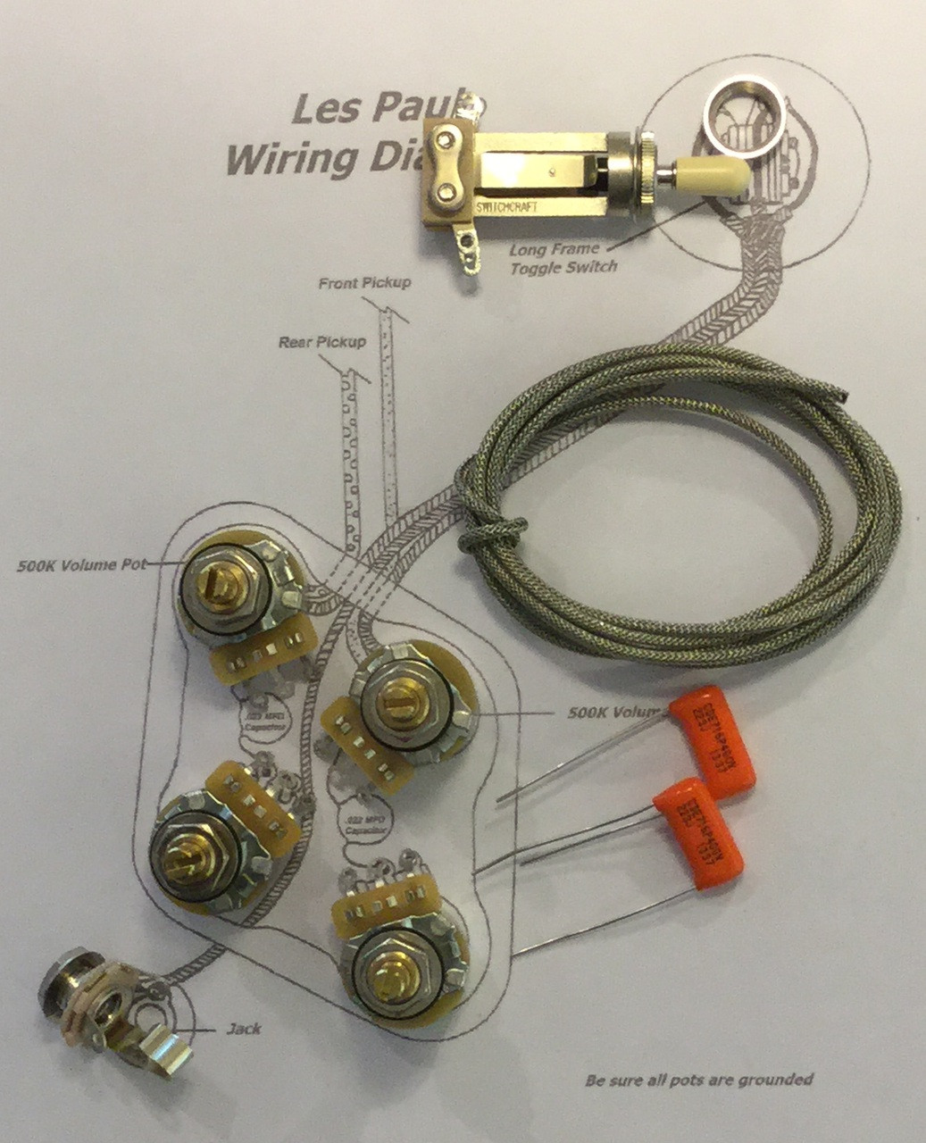 hight resolution of wiring kit gibson les paul long shaft cts taot 500kxl pots les paul wiring diagram 50 s les paul wiring kit