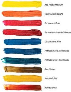 Winsor  newton color palette also acrylic rh meininger