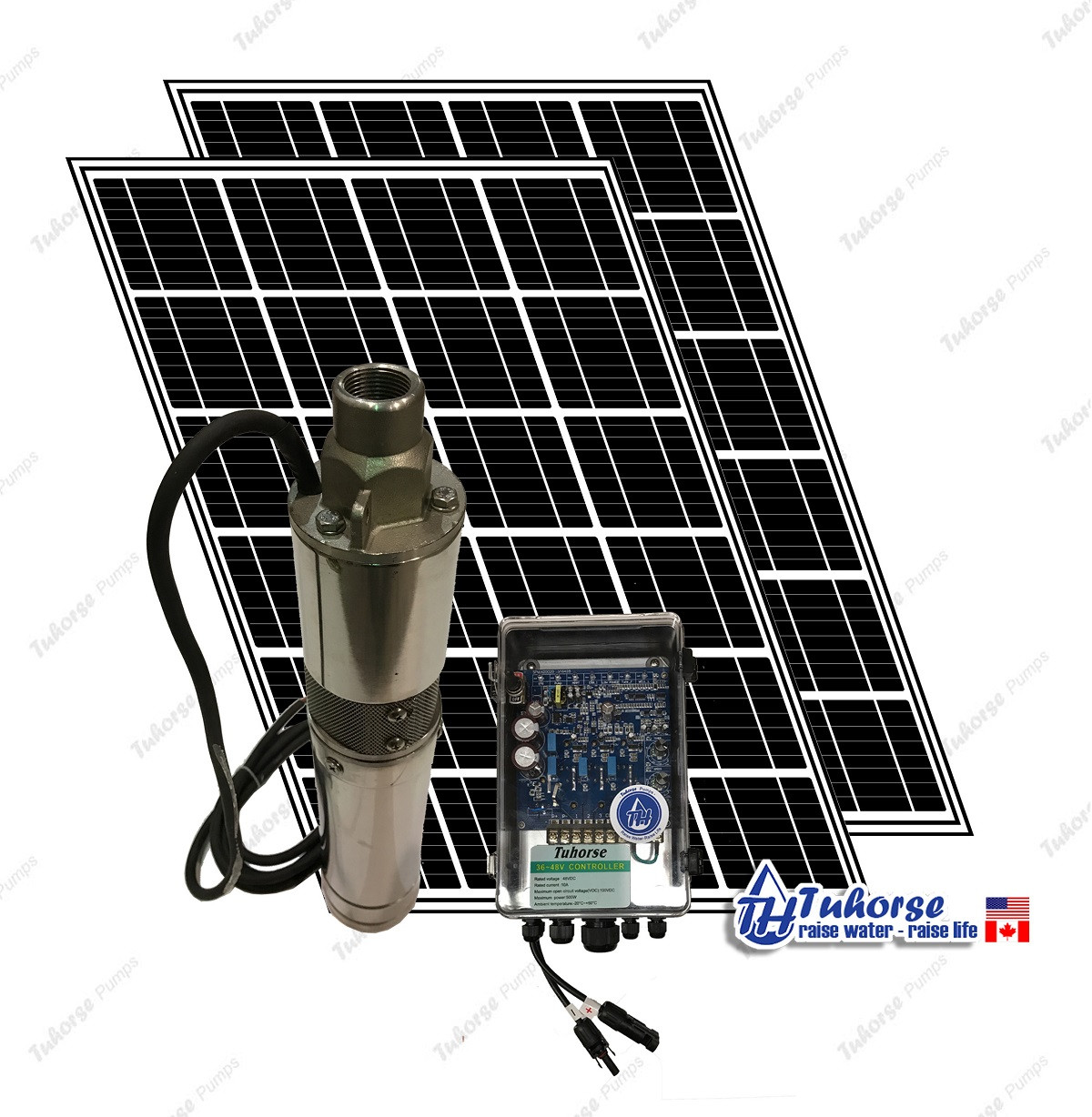 3 500w solar submersible deep well pump 560w solar panel 120 feet cable complete kit [ 1200 x 1228 Pixel ]