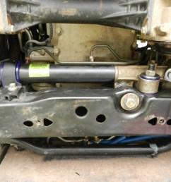 hummer h3 new steering rack mount bushing kit  [ 4000 x 3000 Pixel ]